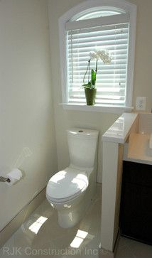 Window Over Toilet Design Ideas Pictures Remodel And Decor Small Half Bathrooms Half Bathroom Bathroom Remodel Cost