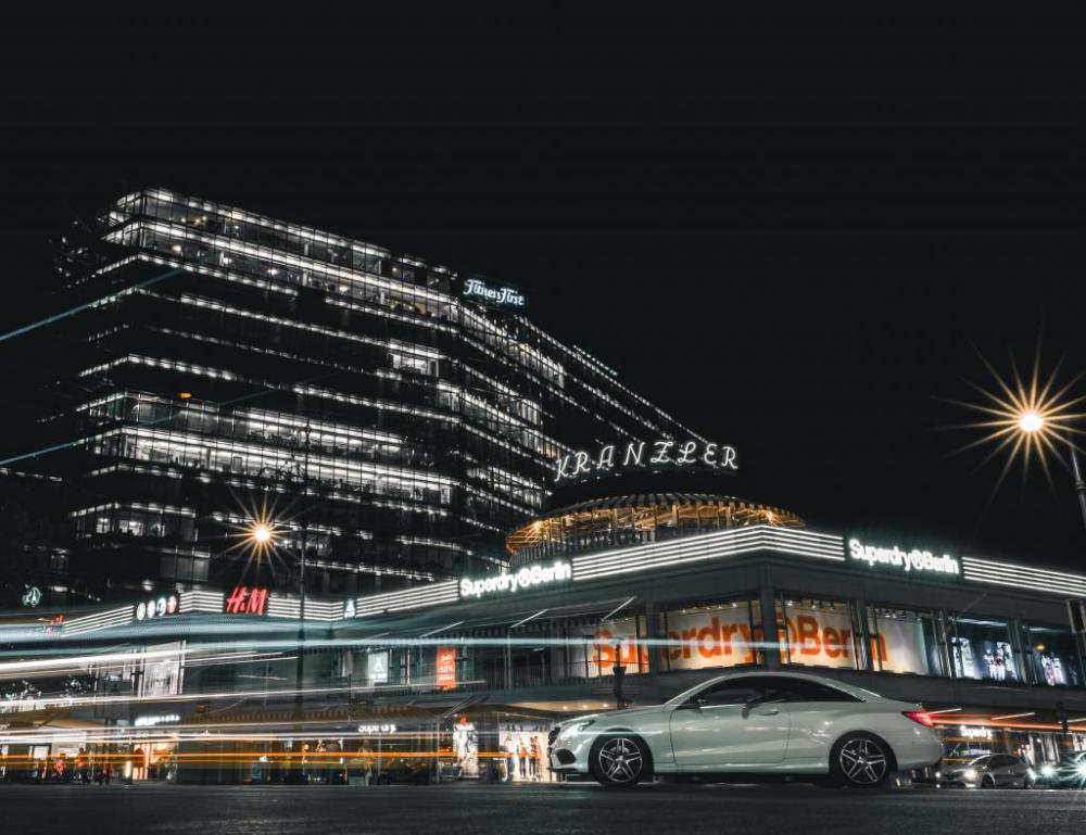 Wallpaper Car Night City Street City Lights Hd Widescreen High Definition Fullscreen