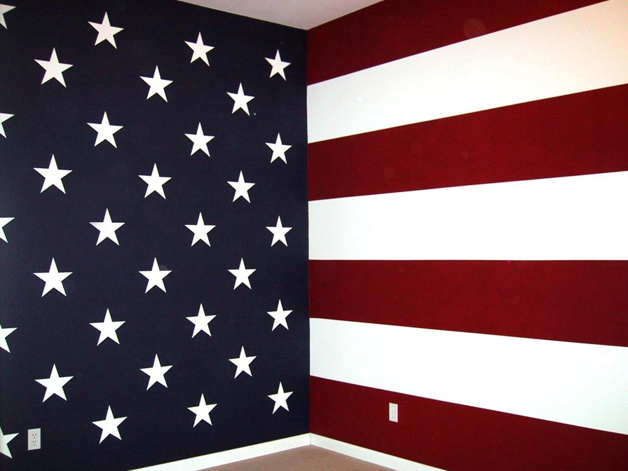 Focus On Stripes: Fun Decorating Ideas From HGTV Fans. American Flag  BedroomPatriotic ...