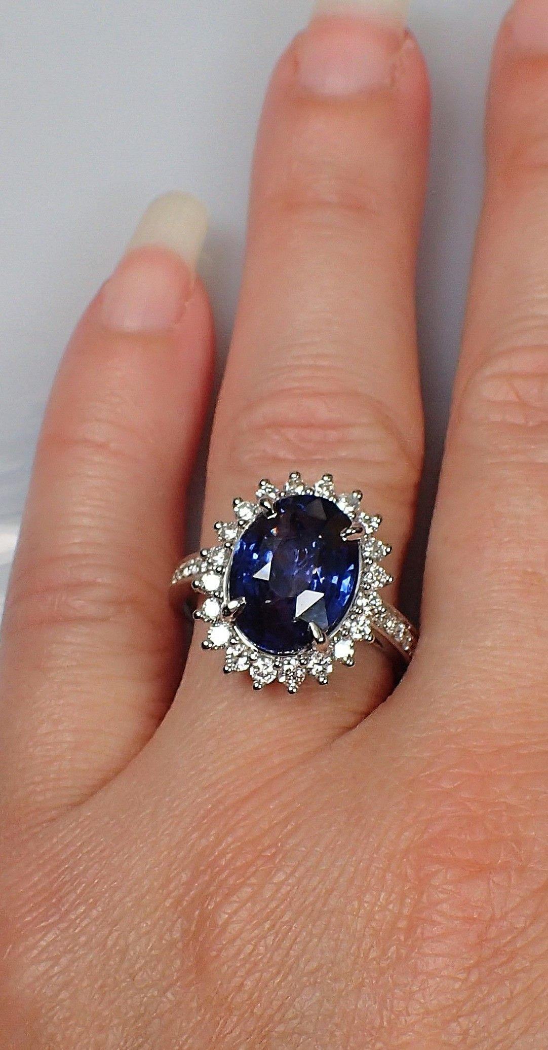 sapphire ring natural sapphire solitaire ring