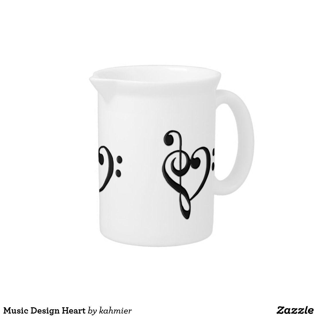 Music Design Heart Drink Pitcher
