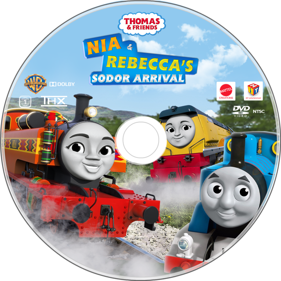 Nia And Rebecca S Sodor Arrival Us Dvd Disc By Pixarfan2015 On Deviantart Dvd Thomas And Friends Mermaid Clipart