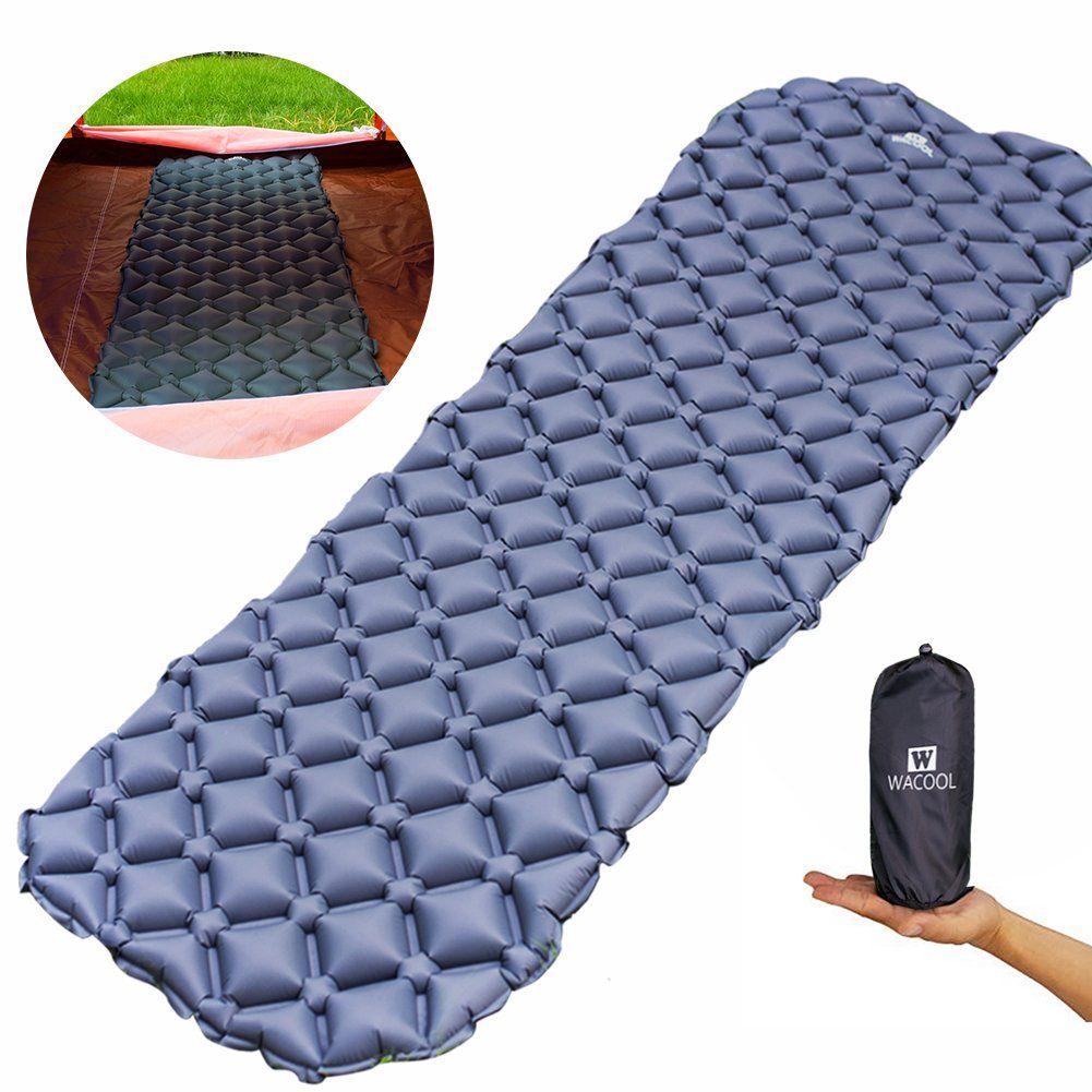 WACOOL Ultralight Inflatable Sleeping Pad Mat Air Mattress