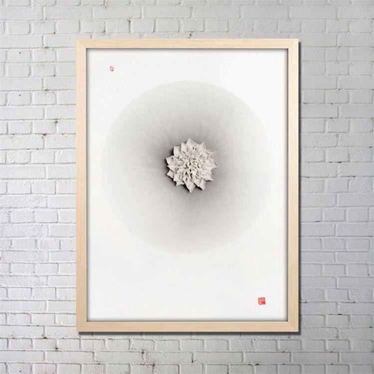 実物絵画 インテリア画 アート実物 セラミック フレーム付 B 36*48inch