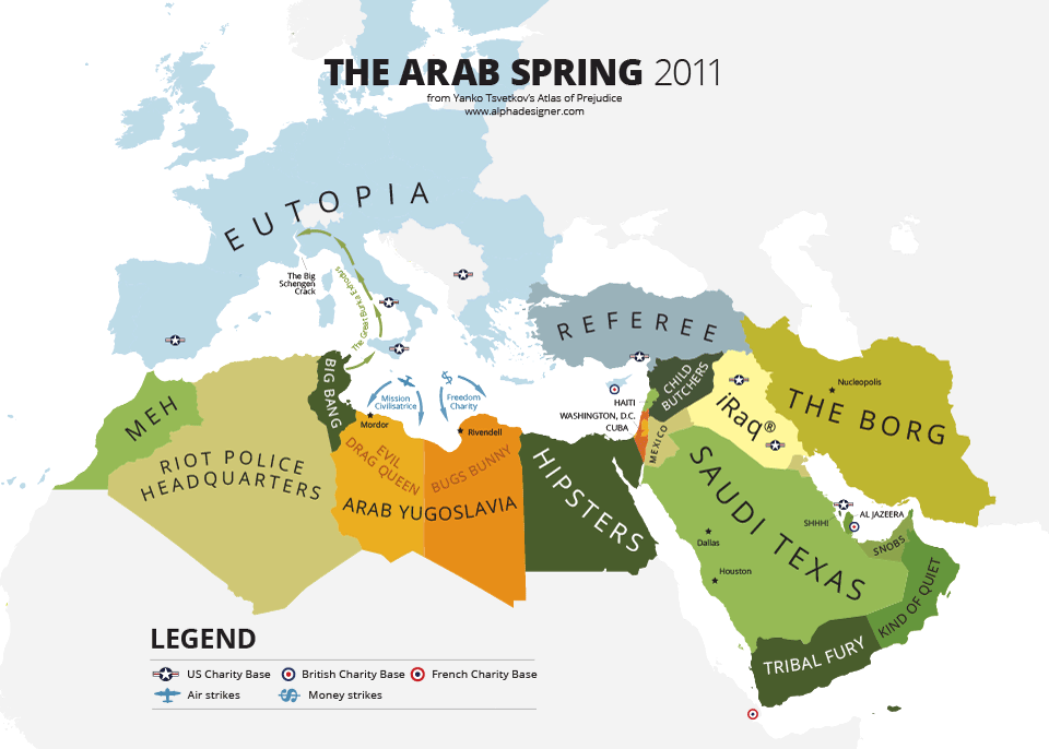 hitchhikers guide to the arab spring print alphadesigner art store