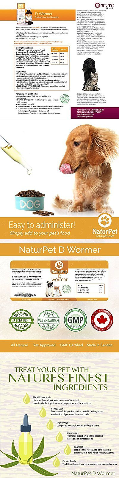 Wormer Products 117432 Naturpet D Wormer 100 Natural