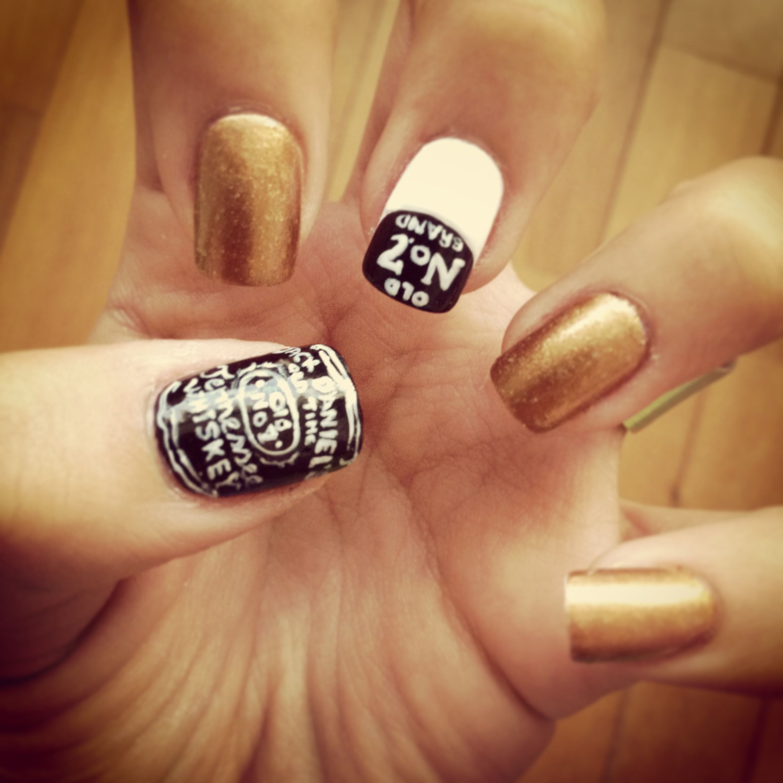 Jack Daniel\'s nailart | Nails | Pinterest