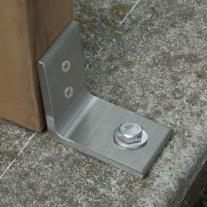 Stainless Steel Anti Theft Bench Bracket Brushed Stainless Steel