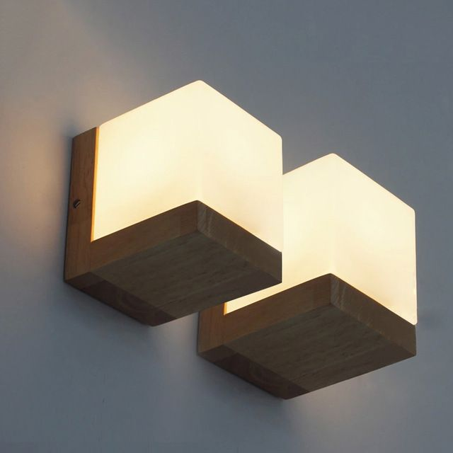 American Style Wall Light Bedroom Bedside Led Lamps Corridor Solid Wood Wall Sconce For Bedroom Livin Wall Lamps Bedroom Wall Lights Bedroom Brass Wall Light