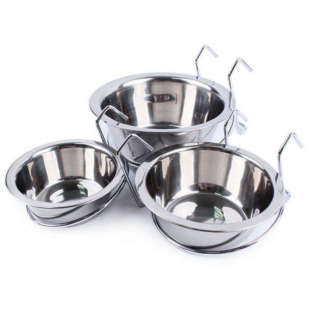Be Good Stainless Steel Hanging Dog Bowl Pet Food Water Feeder