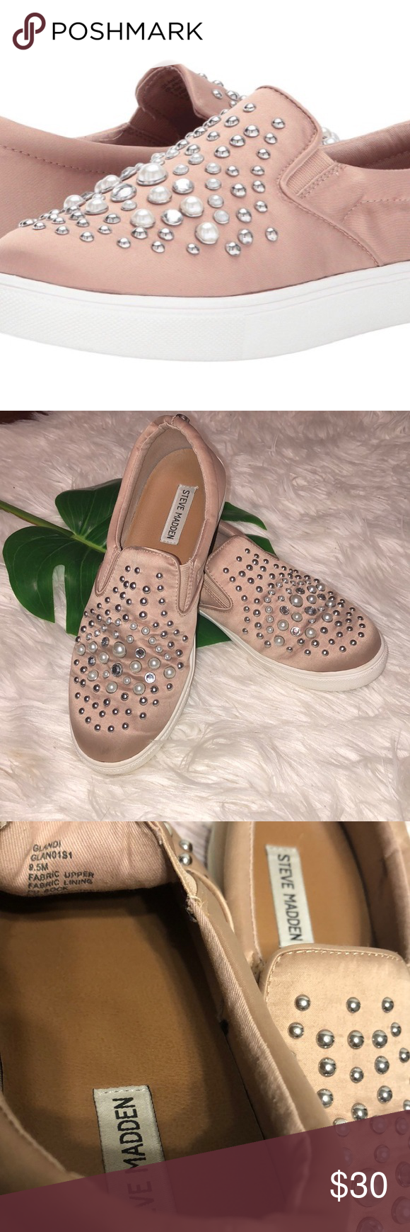 extremidades Posdata Pies suaves  Steve Madden Glandi Gently used rose gold pink no missing studs small spot  on back Steve Madden Shoes   Steve madden shoes, Wedding sneaker, Steve  madden