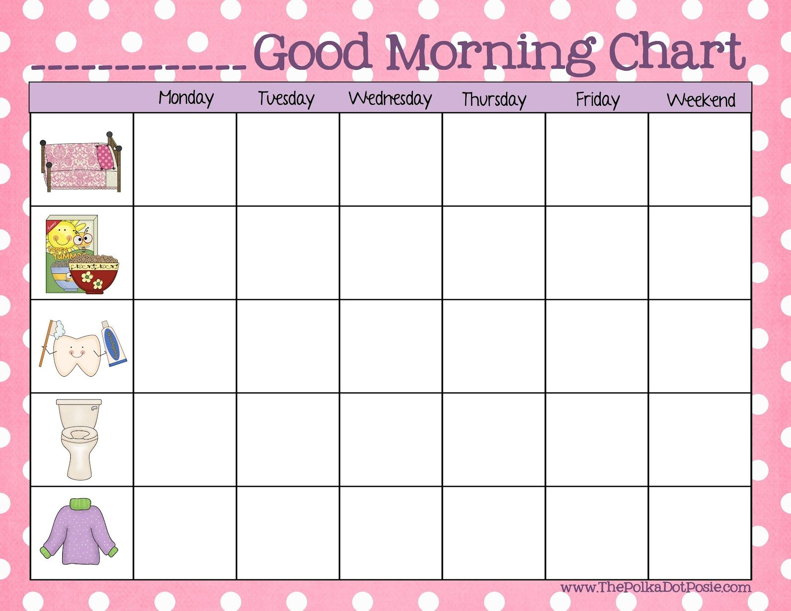 A Daily Dose Of Davis A Good Morning Chart For Toddlers