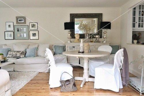 Wohnzimmer Landhausstil Weiss