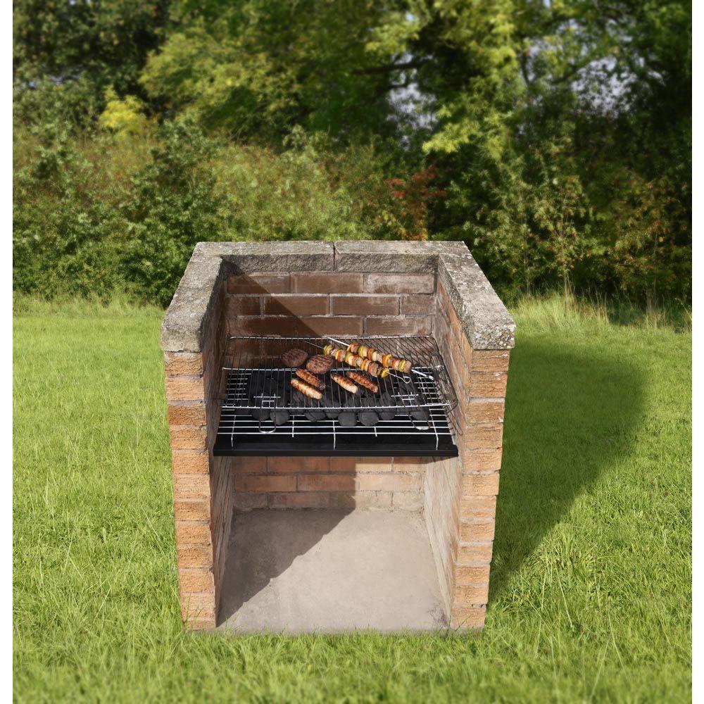 Brick bbq grill set bbq pinterest brick bbq bbq for Build fire pit grill