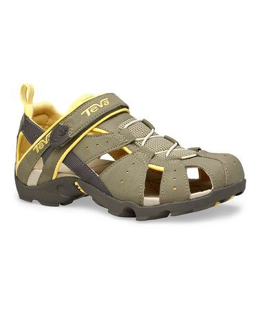 57fc2bd1b2a37 Yellow   Taupe Deacon Closed-Toe Sandal - Women by Teva  zulilyfinds
