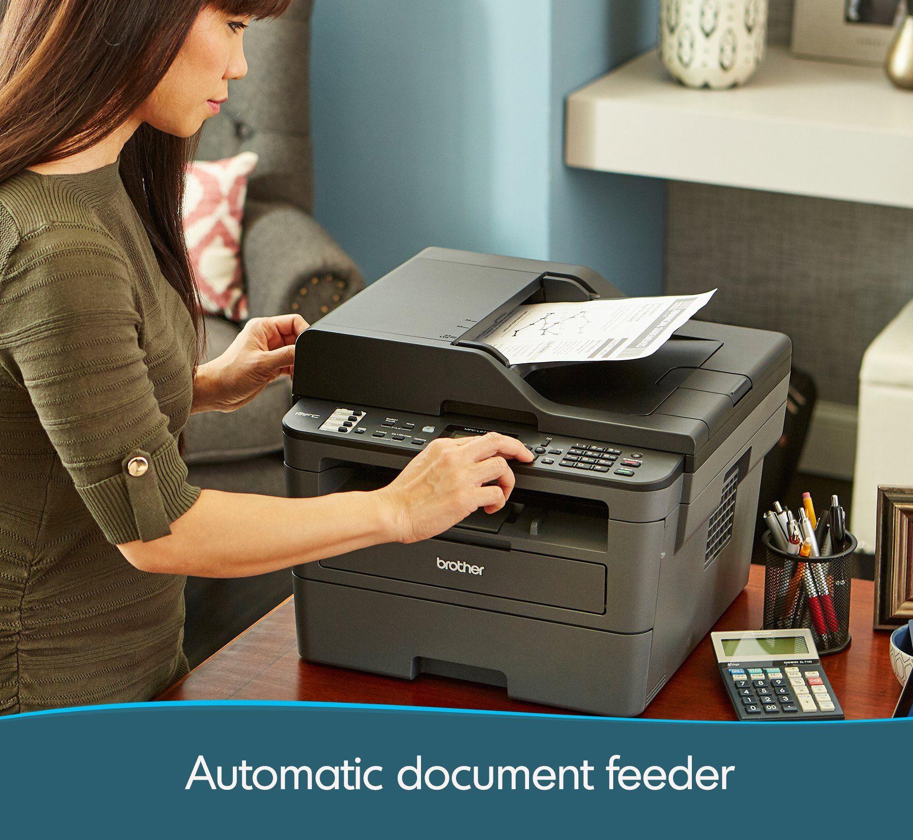 Brother Monochrome Laser Printer Compact Allin One Printer Multifunction Printer Mfcl2710dw Wireless Networking Multifunction Printer Brother Mfc Laser Printer
