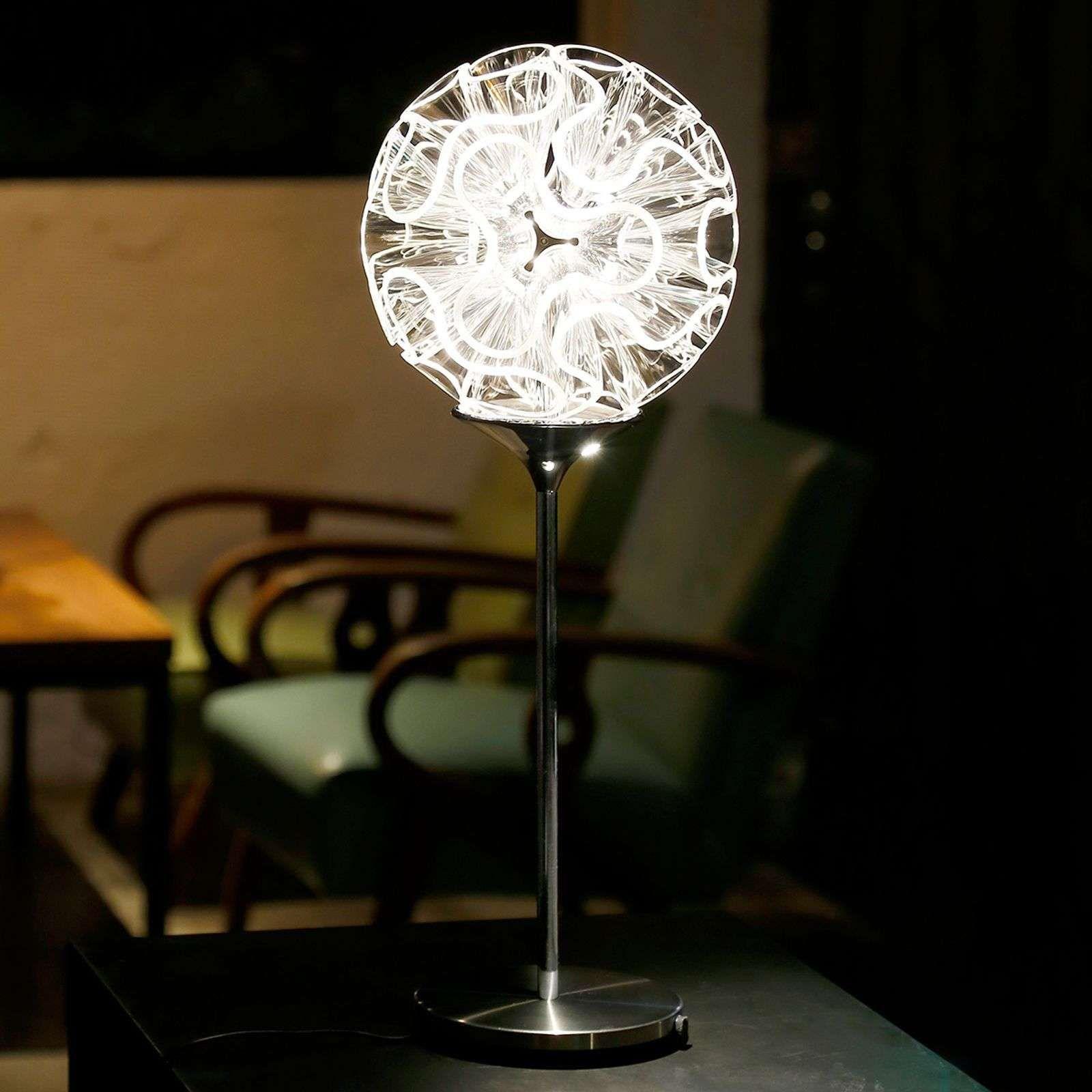 Lampe De Table Design Coral Avec Led Transparent De Qisdesign Lampe De Table Design Lampes De Table Et Led