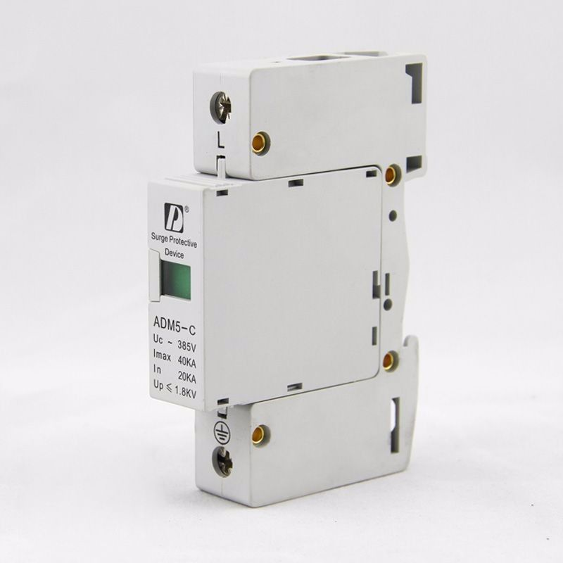 1p 40ka 110v 220v 380v Ac Din Rail Spd Anti Lightning Voltage Surge Protector Device Home Appliances Electrical Equipment Surge Protector