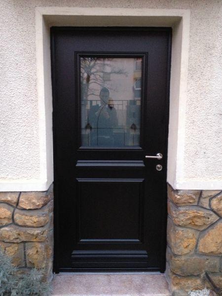 Porte Aluminium Topaze Ral Noir Satine 9005 1 Face Avec Images