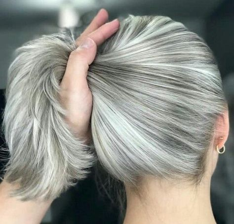 Femme 50 ans Naturally White Silver Grey Hair (notitle