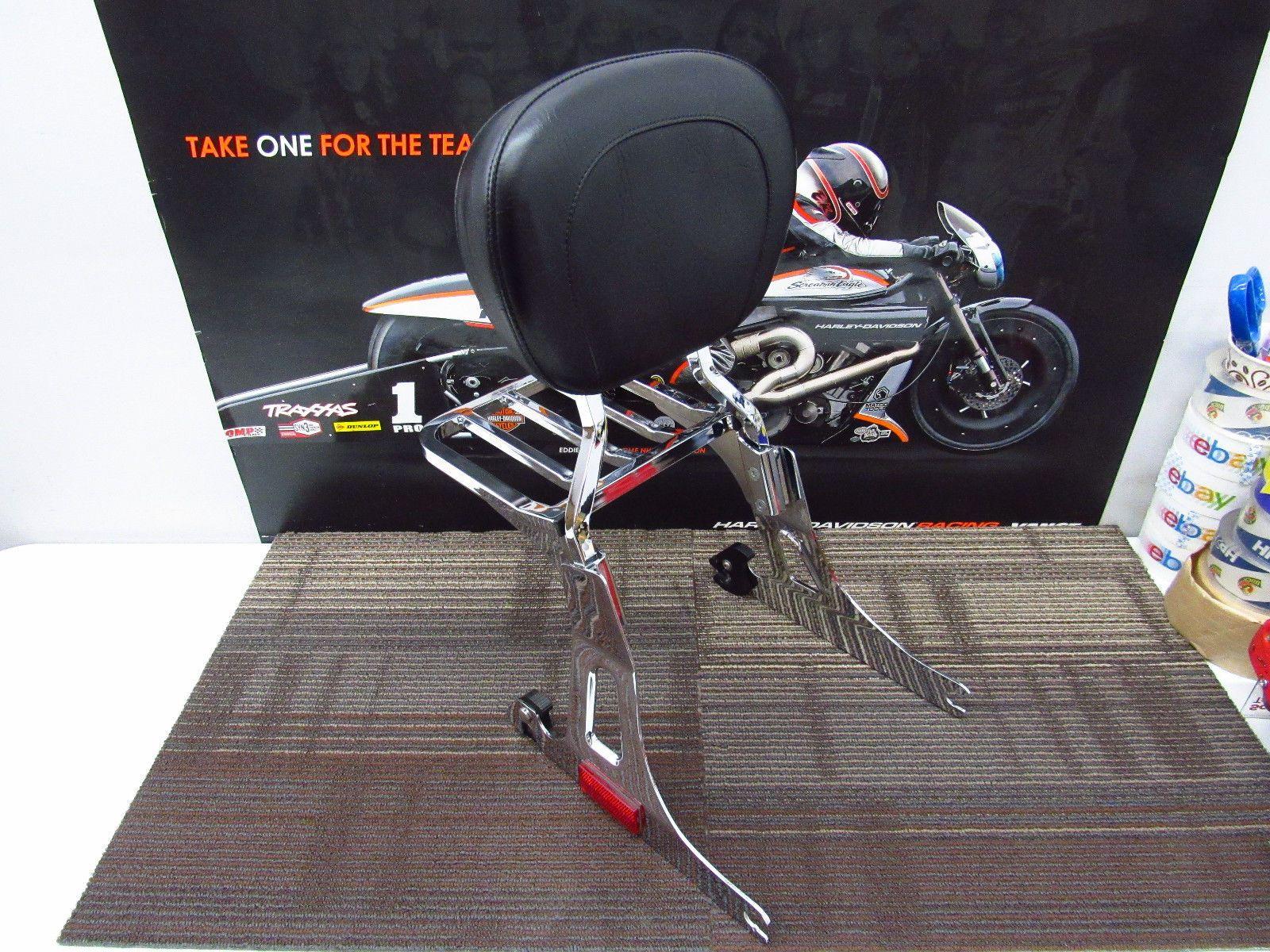 Harley Davidson Dyna Detachable Sissy Bar Luggage Rack Backrest Sissybar Please Retweet