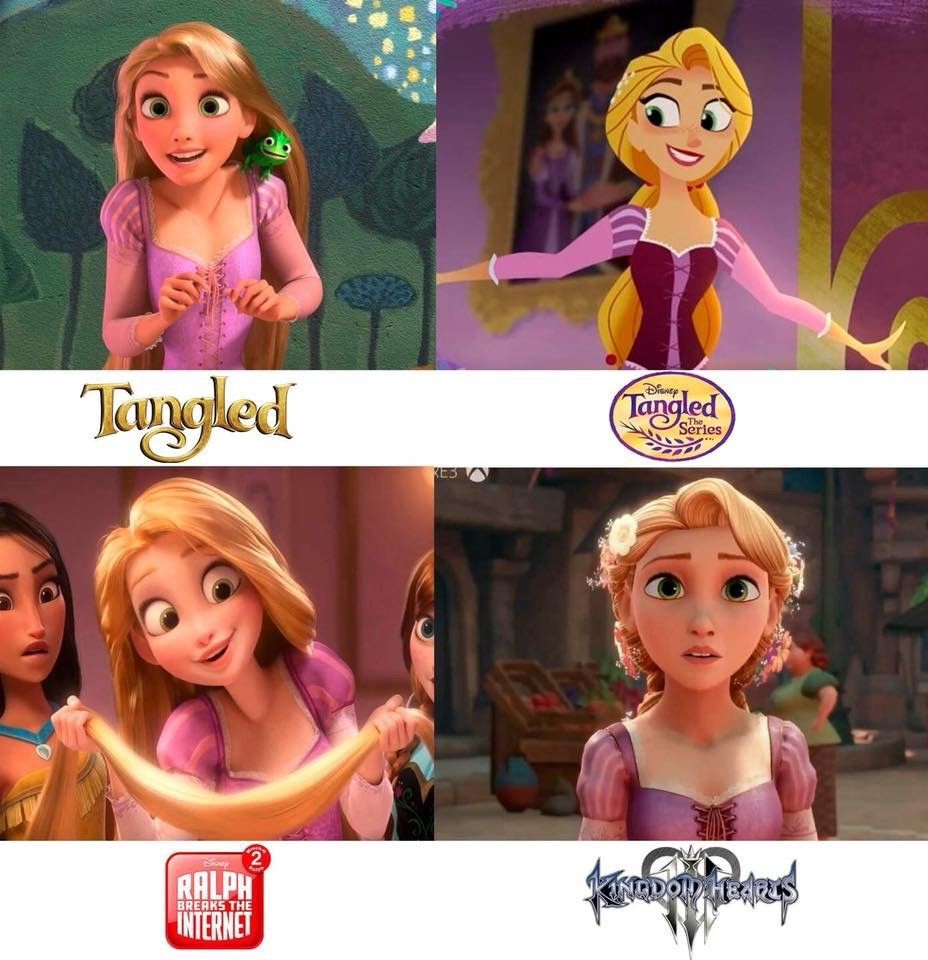 Rapunzel in three new styles! Only available till...till the Tangled franchise lives