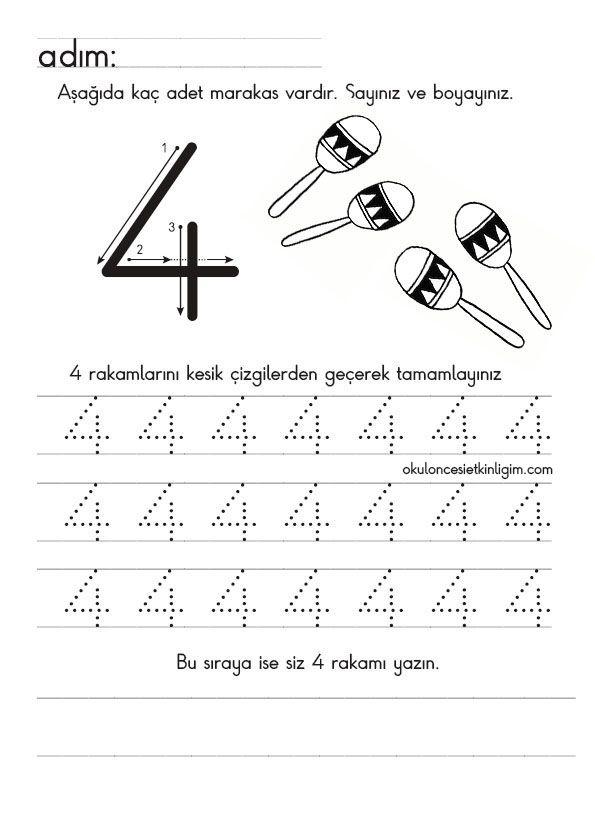Número 4 | α ταξη | Pinterest | Vorschule und Zahlen