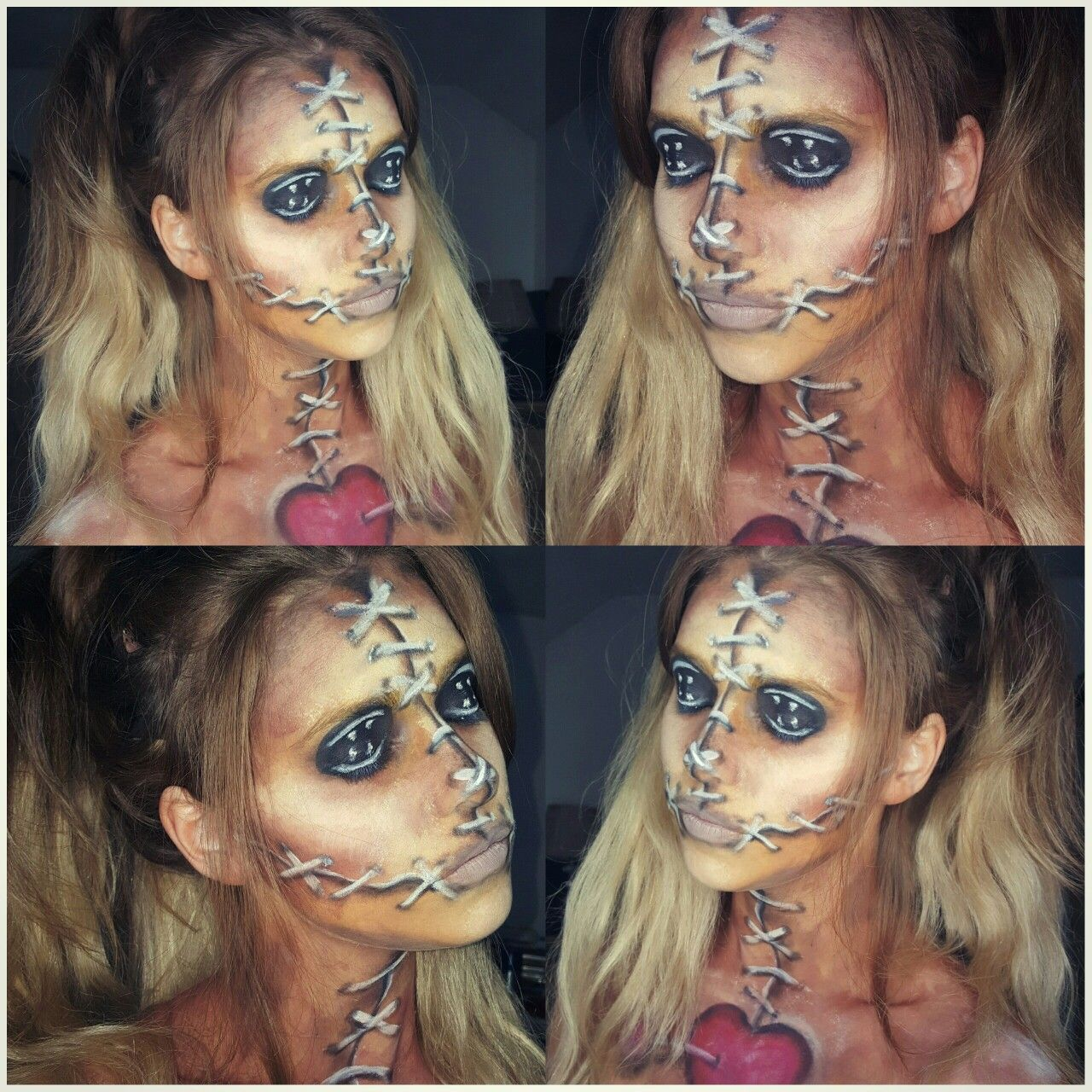 Voodoo doll makeup diamondfxfacepaint snazaroo makeupbycherece lots of inspiration diy makeup tutorials and all accessories you need to create your own diy voodoo doll costume for halloween baditri Images