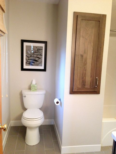 Bathroom Remodel  Blog - The former half bath, now part of the hall bath - Dura Supreme Cabinetry
