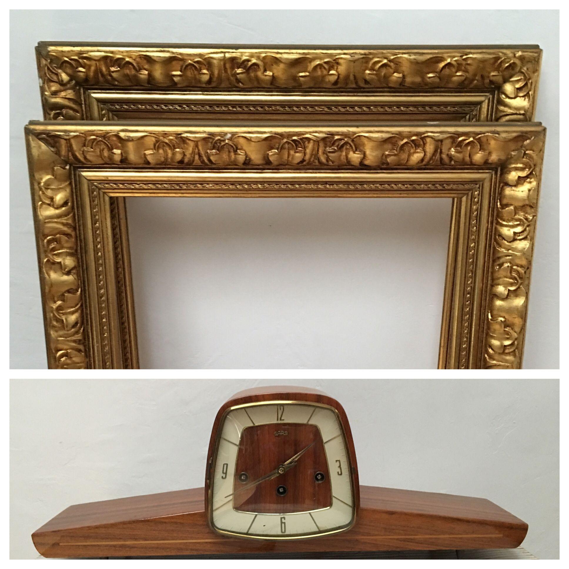 Tu tienda online vintage | Marcos dorados, Relojes antiguos y ...