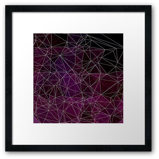 Polygonal abstract purple and white by VanGalt  #polygonal, #vectors, #triangles, #abstract, #nodes, #purple, #polygons, #artprint   , #framedprints ,