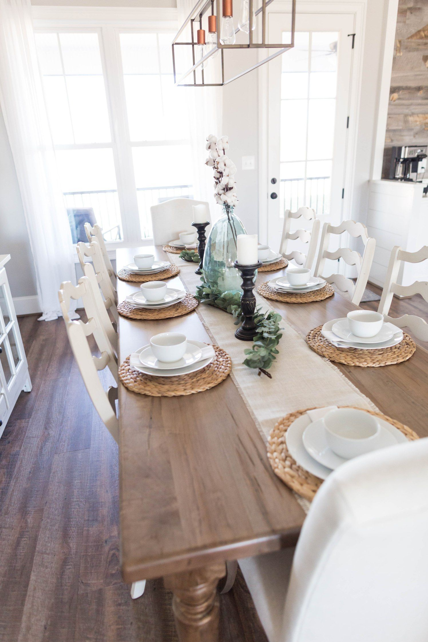 Spring Farmhouse Dining Room Table Ideas Place Setting Cotton