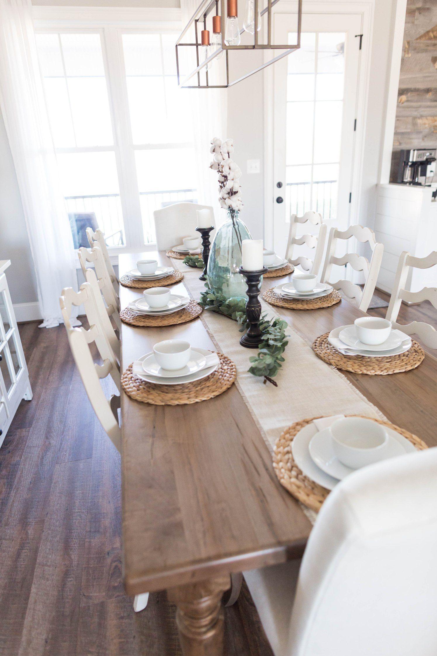 Discover The Best Interior Design Inspirations For A Brand New Home Decor Ho Farmhouse Dining Room Table Farmhouse Kitchen Tables Dining Room Table Decor