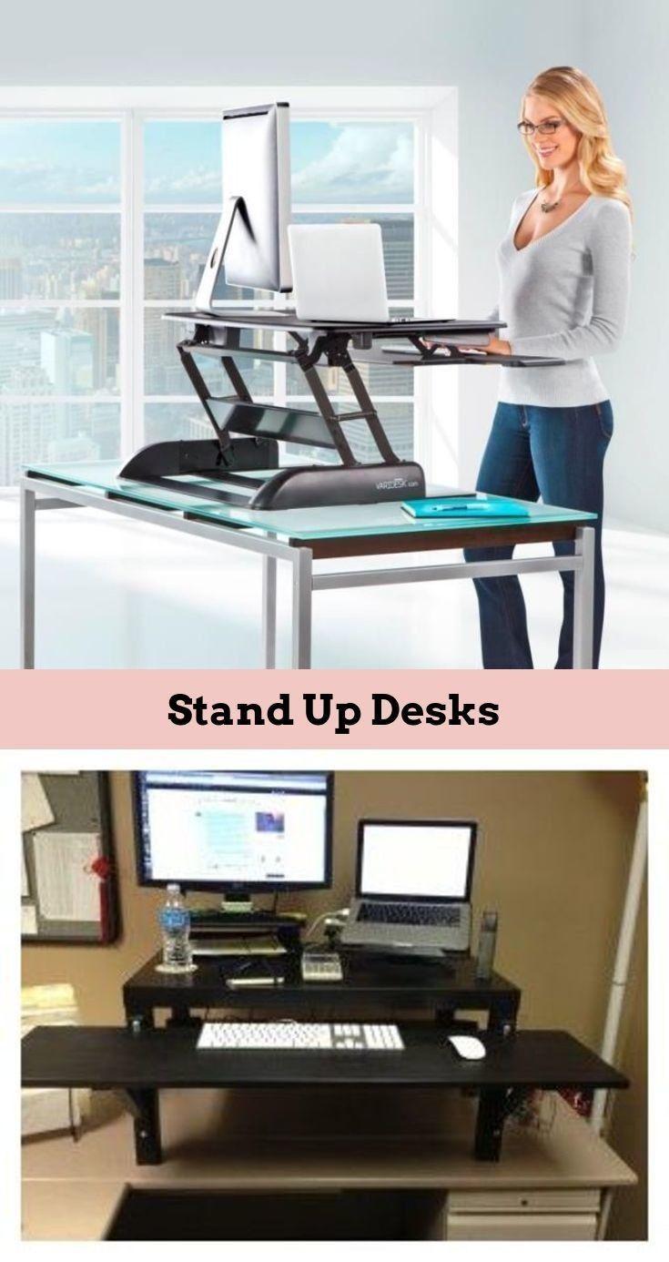Home Office Standing Desk   Makeup Stand Diy. #standingdesk, #moderndesk, #