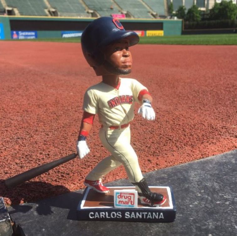 Carlos Santana Indians Bobbleheads Baseball Baseball Cards
