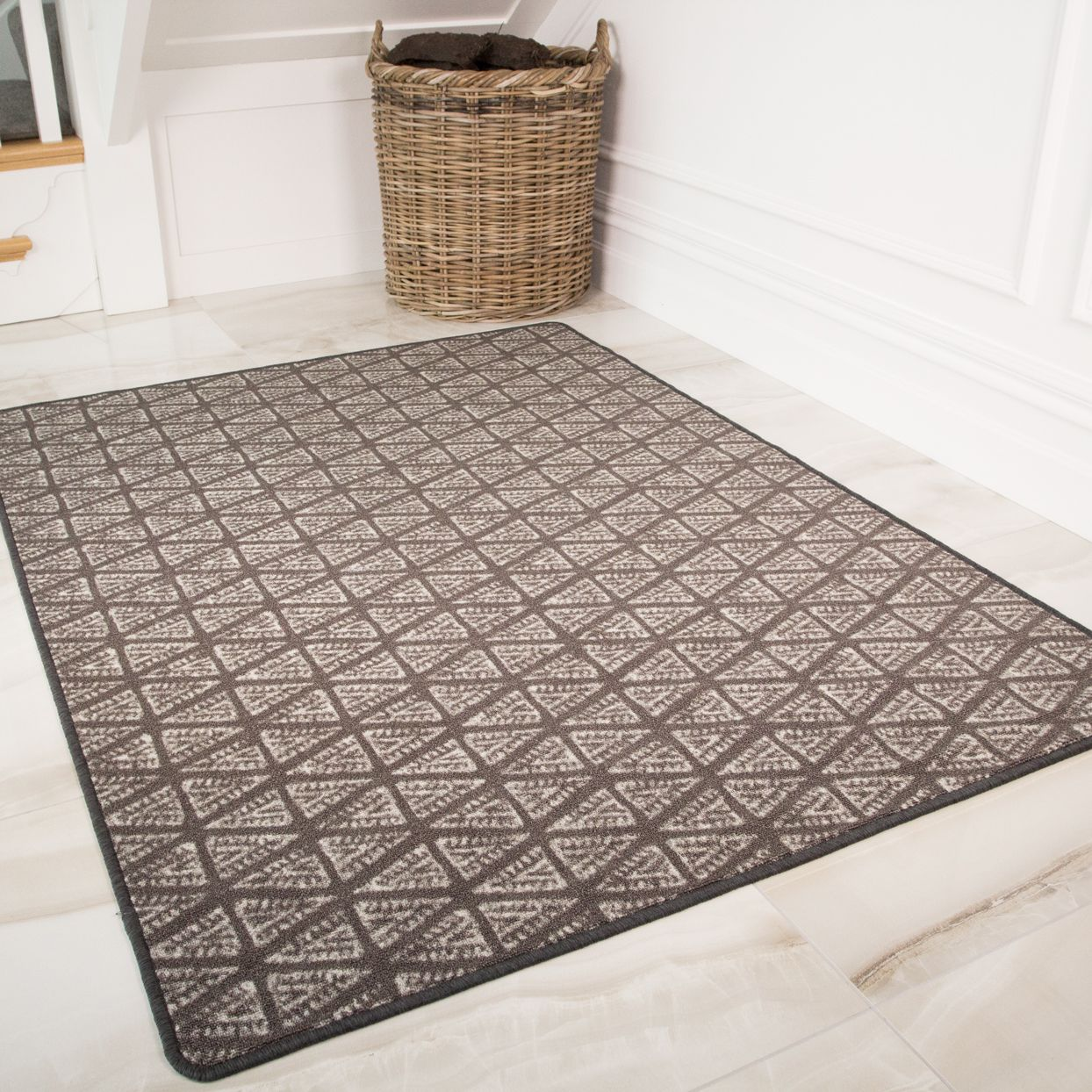 Non Slip Aztec Grey Washable Mats Luna Rugs Large Rugs Grey Rugs