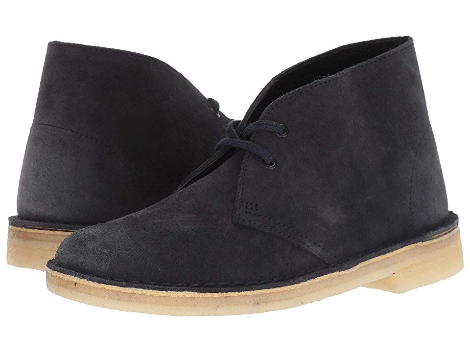 clarks desert boot black smooth leather