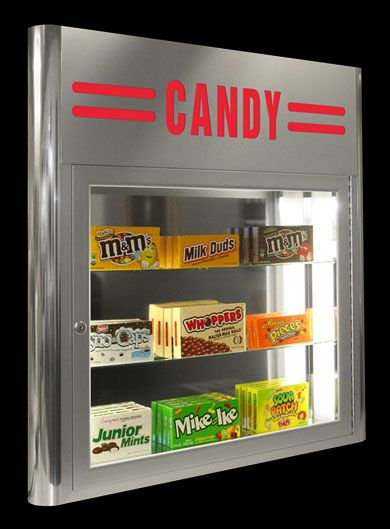 Royal On Wall Candy Case The Royal Aluminum On Wall Candy Display Case Features Home Theatretheater