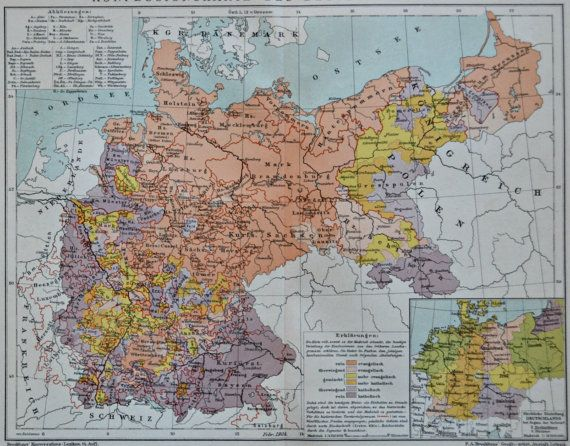 Religious Belief Map In Germany At The Beginning Of The 20th Century