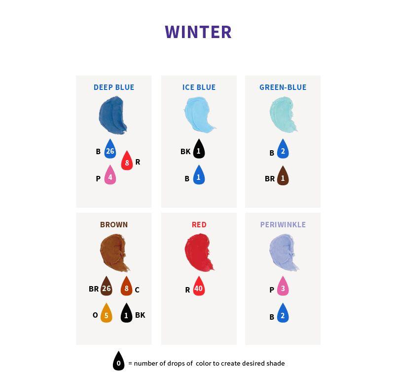 Color right icing color chart icing color chart food