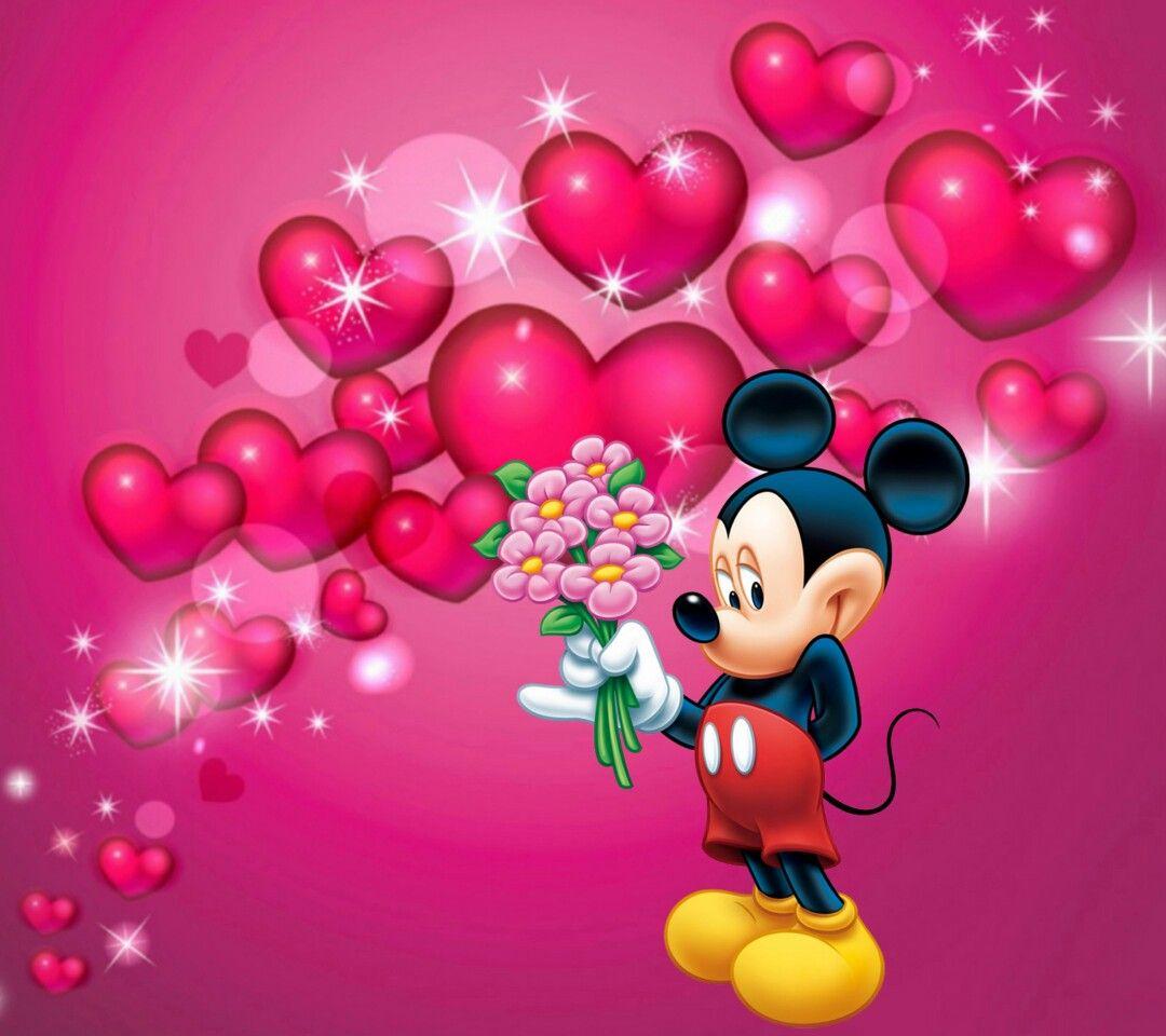 Fröhlichen Valentinstag, Mäuse, Disney, Nonne, Erholung, Guten Morgen,  Pin Up Cartoons, Petit Fours, Karten