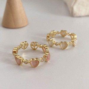 Gold Ring Set Colorful Stone Ring Set Band Ring Set | Etsy