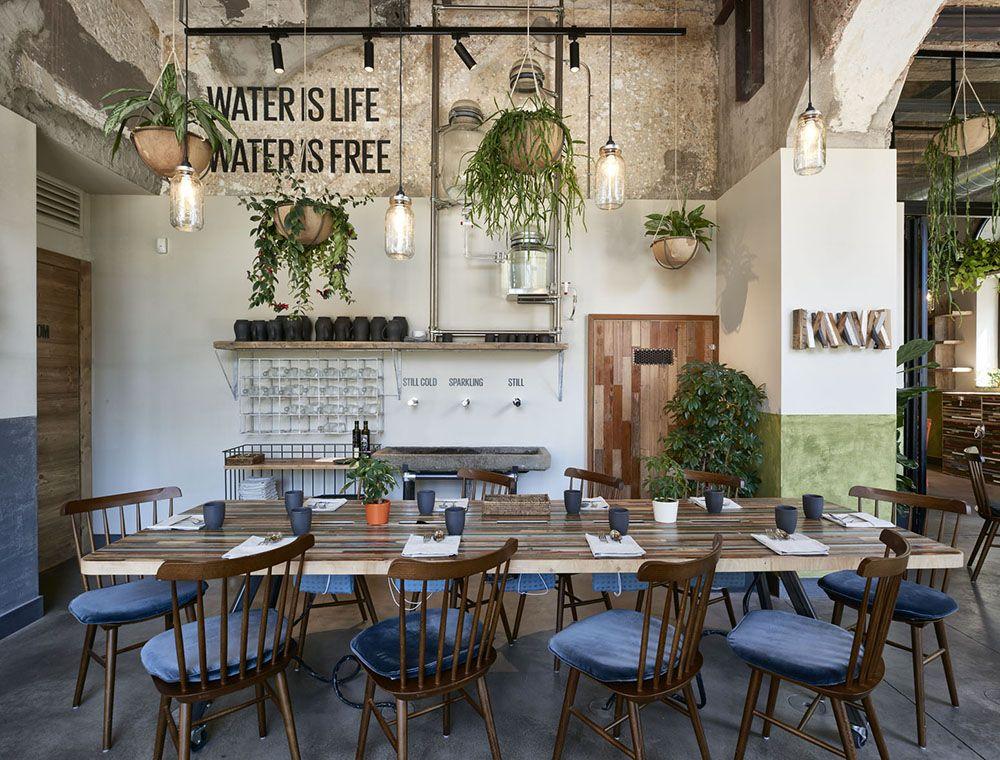 Soulgreen milan vegan restaurant design interior