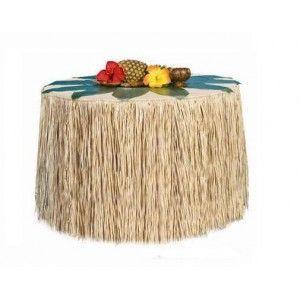 d coration hawa tour de table hawaien jupe hawaienne raphia naturel de m x 70 cm d co. Black Bedroom Furniture Sets. Home Design Ideas
