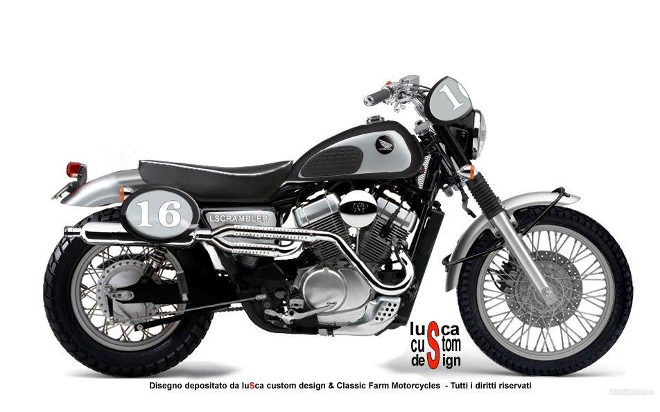 lusca custom design honda vt 750 scrambler bikes. Black Bedroom Furniture Sets. Home Design Ideas