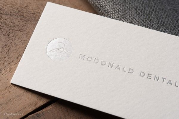 Modern minimalist textured cream business card with silver foil free business card templates for rockdesign print customers order a professional business card template online choose from our wide selection of business flashek Image collections