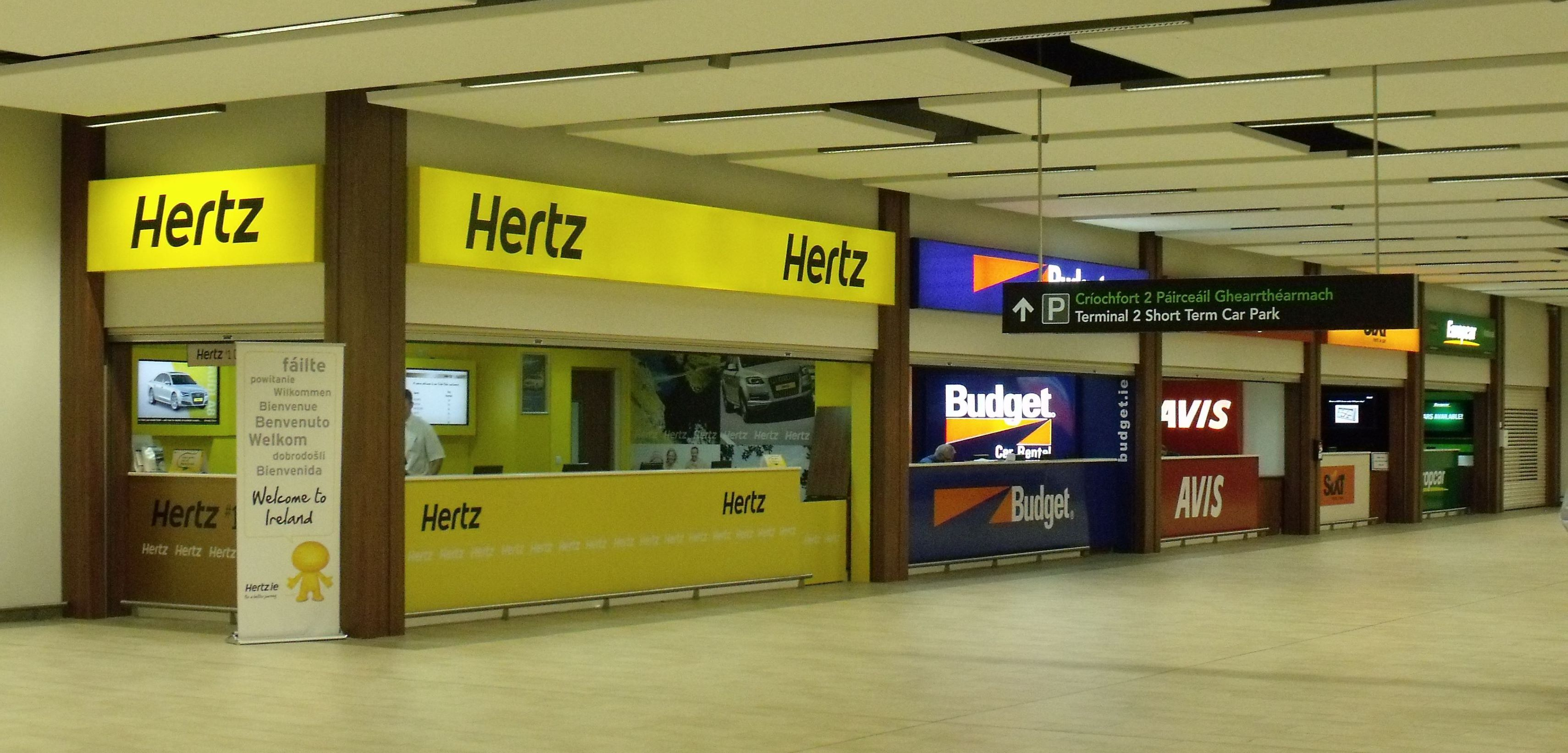 Car Desks Hertz Budget Avis Sixt And Europcar Desks At Dublin Airport