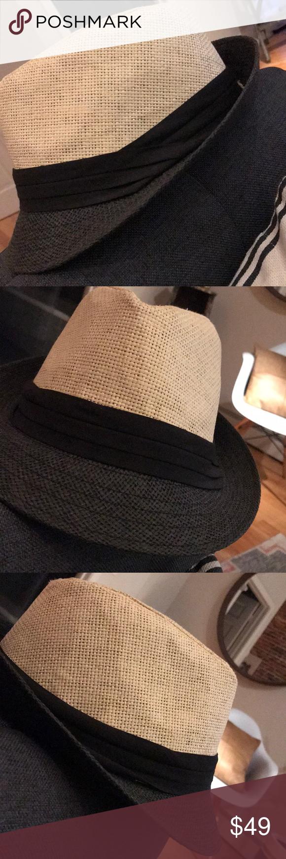 fc6ee5851376a Black and Tan Fedora Black and Tan Fedora w black band around brim  Accessories Hats