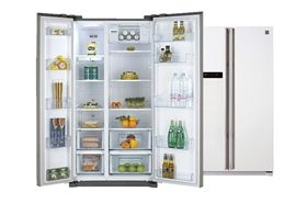 New American Style Side By Side Fridge Freezer By Daewoo Pay Weekly With Buy As You View Bathroom Medicine Cabinet Daewoo Fridge Freezers