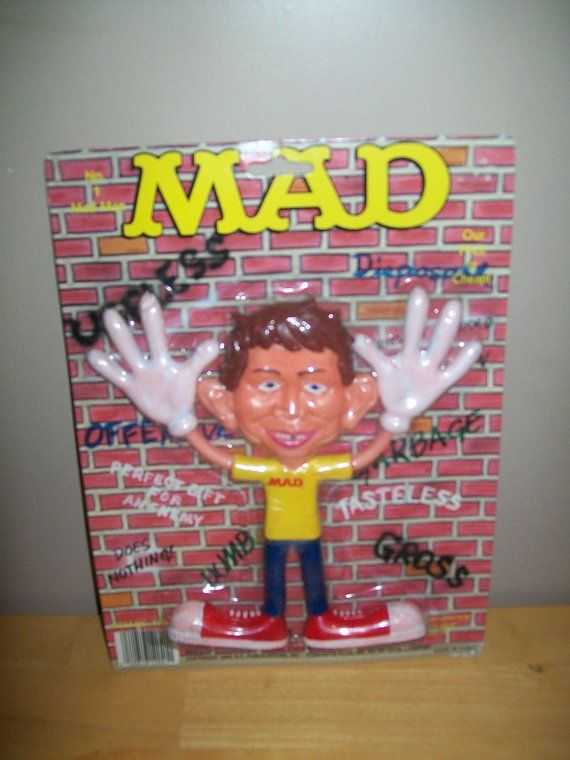 MAD Magazine Alfred E. Neuman Rubber Bendy Figure